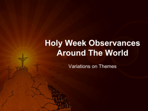 Holy Week Oservances Around the World