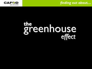 greenhouse effect the finding out about…