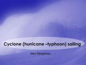 Cyclone (hurricane typhoon) Sailing