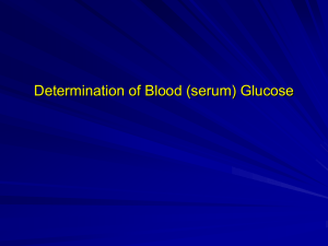 Lab. Determination of blood glucose