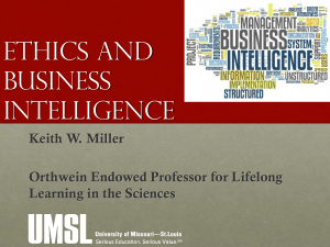 Ethics and Business Intelligence