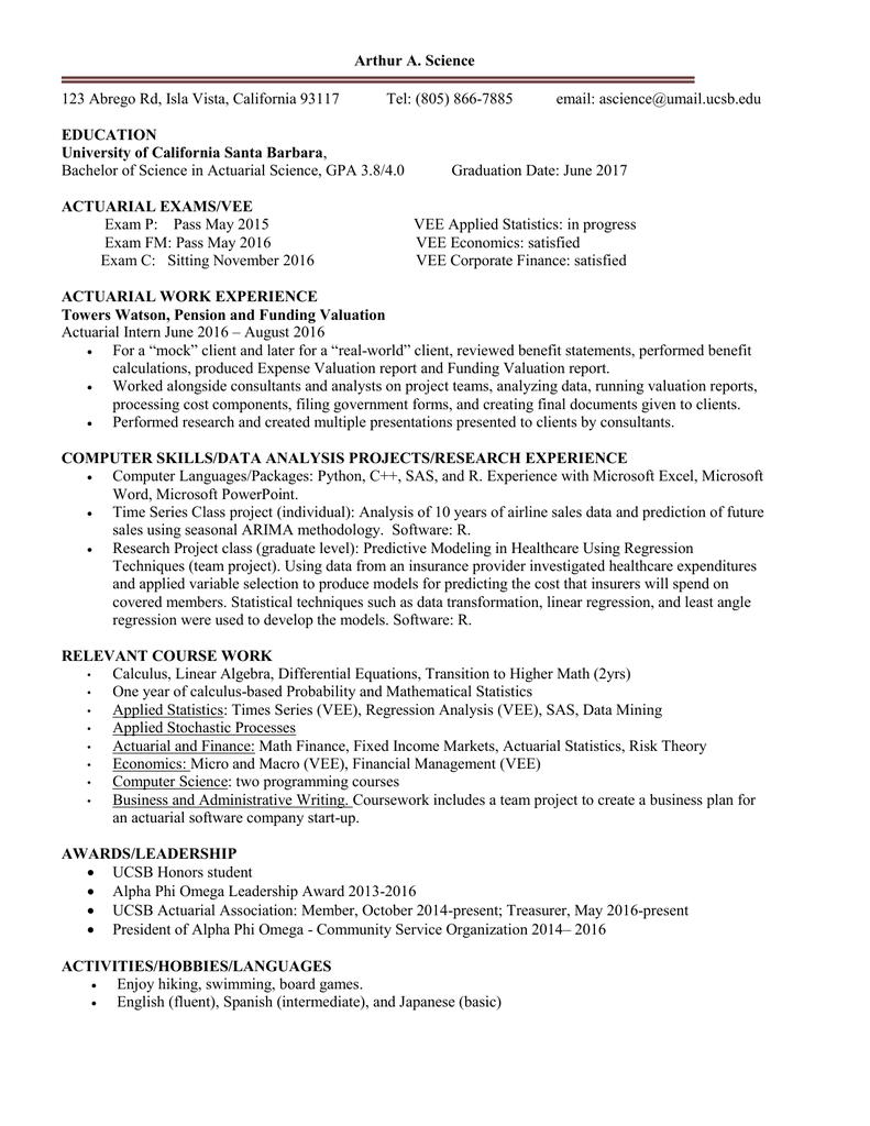 Sample Senior Resume