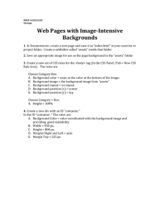 Image-Intensive-Background Web Page Design