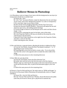 Rollover Menus in Photoshop