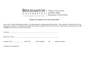 Graduate Assistant Evaluation Form
