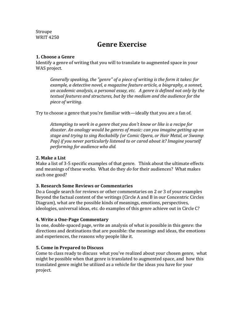 Genre Exercise
