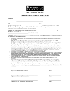INDEPENDENT CONTRACTOR CONTRACT
