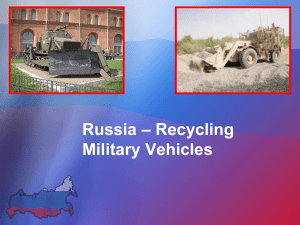 – Recycling Russia Military Vehicles