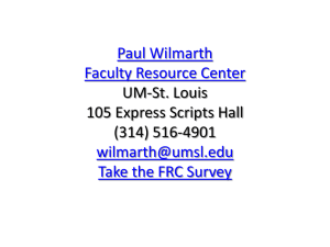 Paul Wilmarth Faculty Resource Center  Take the FRC Survey