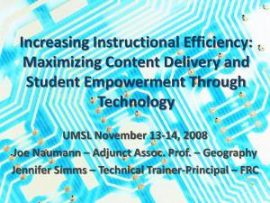 2008 Technology Conference Presentation