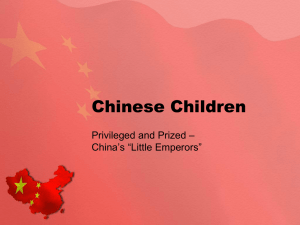 "Chinese Children – Privileged and Prized China's ""Little Emperors"""