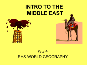 Intro to Middle East