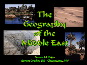 Middle East Geography 2