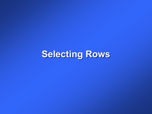 Selecting Rows