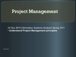 An Updated overview on Project Management