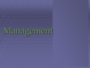 Chapter - 1 Management Concepts - Managers and Management