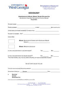 Major/Minor Declaration Form (Print Submit)
