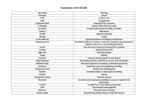 Vocabulary Unit 28-30