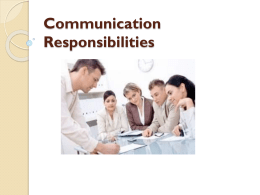 communication resposbility