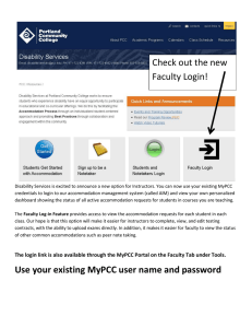 Check out the new Faculty Login!