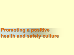 Promoting a positive health and safety culture