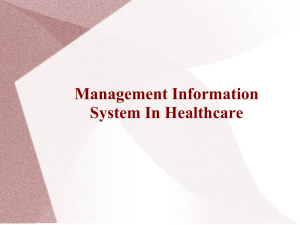 Management Information System In Healthcare