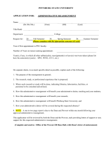 Administrative Reassignment Request Form (Word)