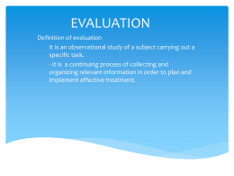 Evaluation in pediatric