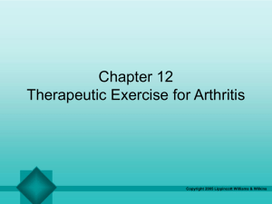 Therapeutic Exercise for Arthritis