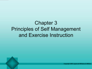 Principles of Self Management