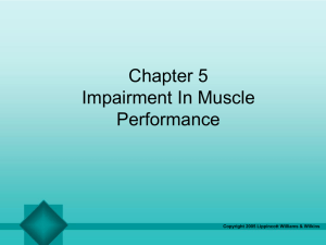 Chapter 5 Impairment In Muscle Performance Copyright 2005 Lippincott Williams & Wilkins