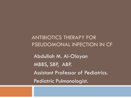 Antibiotics Therapy in CF