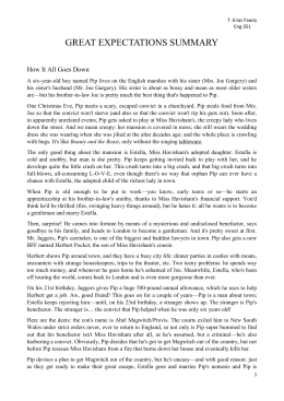 great expectations summary Extracts from this document introduction great expectations coursework by mickey haugh 10ce great expectations is a story of a young boy who is an orphan.