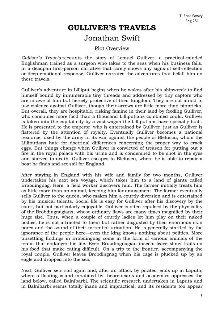 An analysis of english language on jonathan swifts gullivers travels