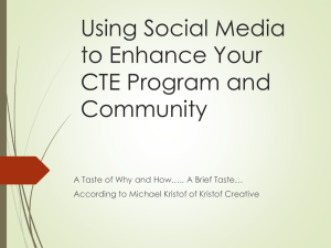 Using Social Media to Enhance your CTE Program