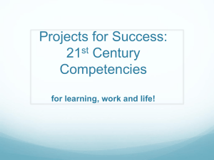 Projects for Success, 21st Century Competencies