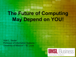 The Future of Computing Depends on YOU!