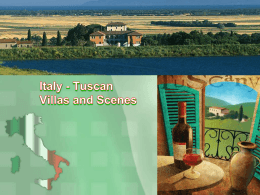 Italy - tuscan villas and scenes (ppt)