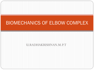 BIOMECHANICS OF ELBOW COMPLEX U.RADHAKRISHNAN.M.P.T
