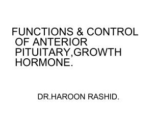 ANTERIOR PITUITARY,GROWTH HORMONE