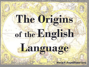 The Origins English Language of  the