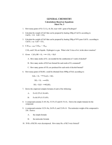 Calculations Based on Equations (Sheet No. 3)