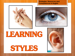 Strategies, Resources and Competences in English