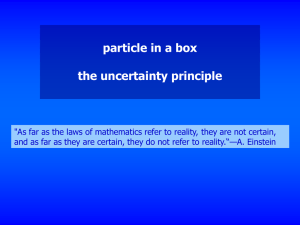particle in a box the uncertainty principle
