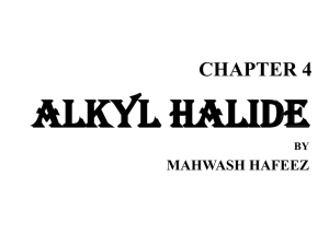 ALKYL HALIDE CHAPTER 4 MAHWASH HAFEEZ BY