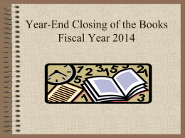 Budget Managers Closing of the Books Powerpoint