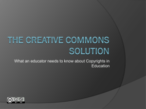 The Creative Commons Solution