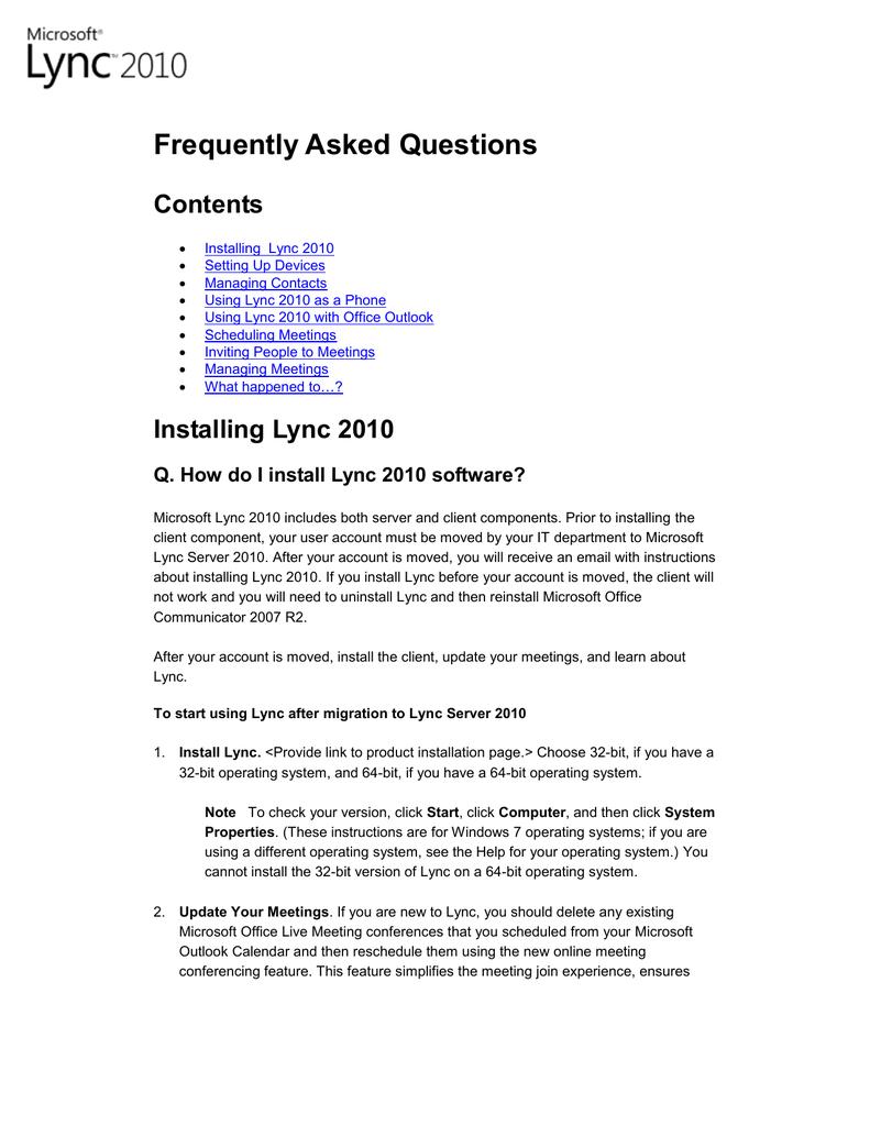 lync download for windows 7 32 bit