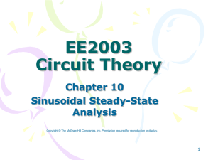 EE2003 Circuit Theory Chapter 10 Sinusoidal Steady-State
