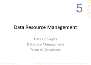 5 Data Resource Management Chap ter